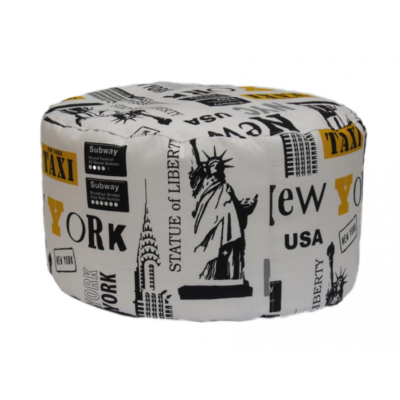 poltrona sacco by furia pouf tondo new york. Black Bedroom Furniture Sets. Home Design Ideas