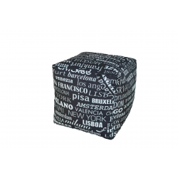 POUF CUBO BIG CITY NERO