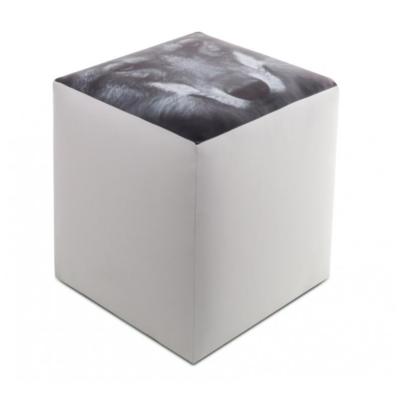 Pouf Cubo.Poltronasacco Com Furia Srl Pouf Cubo Ecopelle Lupo