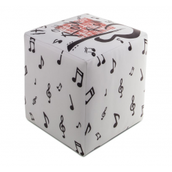 POUF CUBO ECOPELLE NOTE ROCK