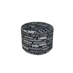 POUF TONDO BIG CITY NERO