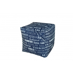 POUF CUBO BIG CITY BLU