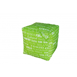 POUF CUBO BIG CITY VERDE